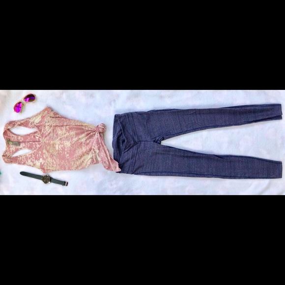 GAP Pants - Blue Multicolor GapFit Full Length Leggings